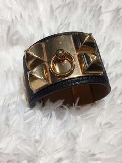 New Hermes Authentic CDC Bracelet black