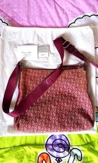 Christian Dior Monogram Messenger Bag.