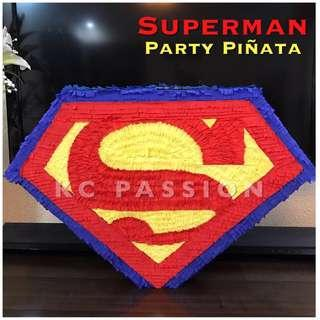 🎉 SUPERMAN PINATA • SUPERHERO PARTY PIÑATA Customized • Personalized • Pull String • Hit Type • Party Piñata Decoration • Table Center Piece • Photo Booth Props