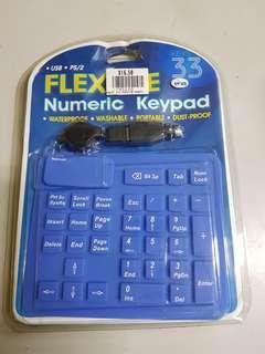 Flexible Numeric keypad