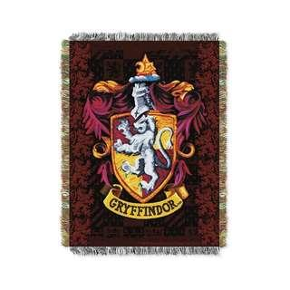 🚚 🔥Gryffindor Woven Tapestry Blanket (Harry Potter)