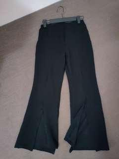 Womens pants with splits
