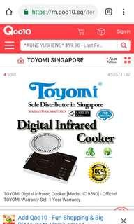 PL TOYOMI INFRARED COOKER HOTPLATE  USED LESS THAN 10 TIMES