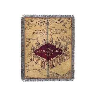 🚚 🔥Marauder's Map Woven Tapestry Blanket (Harry Potter)