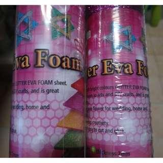 Glitter EVA Foam in Roll (Pink/Purple)