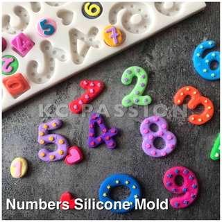 🔢 NUMBERS SILICONE MOLD for Pastry • Chocolate • Fondant • Gum Paste • Candy Melts • Jelly • Gummies • Agar Agar • Ice • Resin • Clay • Candle Wax • Soap • Chalk • Crayon
