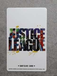 Limited Edition Justice League DARTSLIVE Card