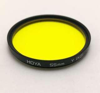 Hoya 55mm Yellow ( K2 ) Filter, Made in Japan