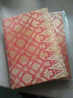 Songket Note Book / Guest Book