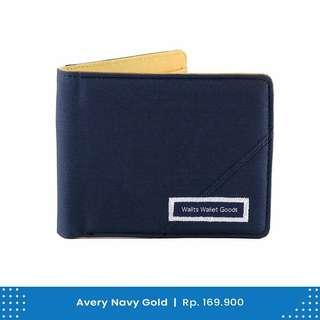 Dompet Pria Wallts Avery Navy Gold