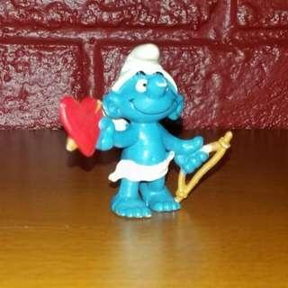 Vintage 1980 PEYO - Schleich - W. Berrie Co. Smurfs Amour Cupid Smurf Figure