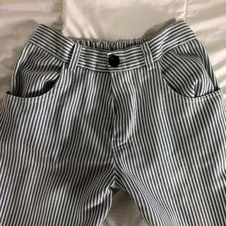 cigarette striped pants
