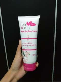 #onlinesale Fair N Pink Whitening Body Serum