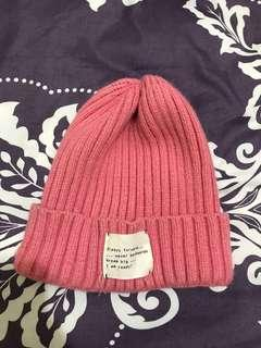 🚚 Zara粉色毛帽