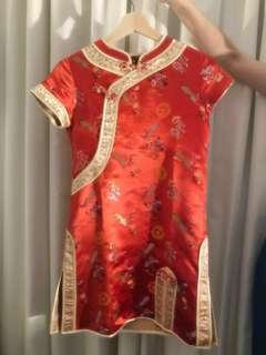 Imlek Chinese New Year - Congsam Anak Girl 7-12yo (Like New) Baju Anak