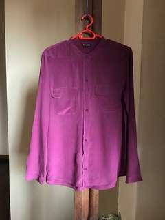 Massimo dutti purple top
