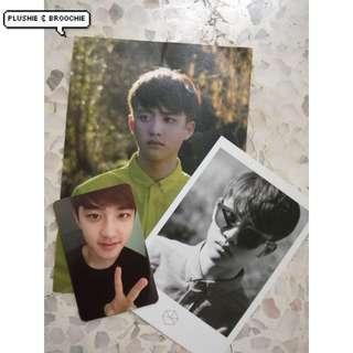 exo exodus album official photocard , postcard , polaroid COMBO SET ( D.O Kyungsoo )