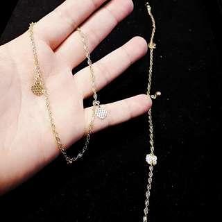 💲 916 gold leg chain / anklet @ $58 per gram. Length 26-26.5cm