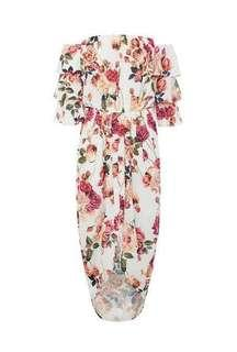 BNWT Sheike dress size 6 xs off the shoulder floral design RRP $159.95
