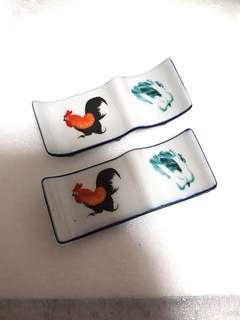 Porcelain Rooster Cutlery Holder