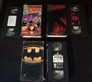 VHS TAPES XMEN (CARDBOARD AND PLASTIC HARDCASE)