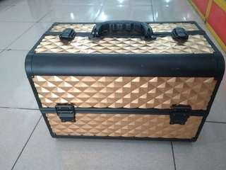 Tas Make Up / Kosmetik Gold | Beauty Case