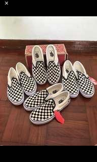 Vans slip on classic black and white checkboard
