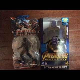 THANOS and BLACK PANTHER