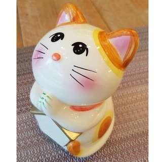 日本SUNART祈願貓存錢筒(お願いニャンコ)