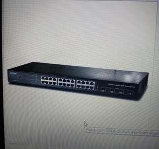 Planet GSW-2404SF 24-Port Web Smart Gigabit Switch with 4 Shared SFP