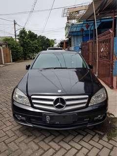 Mercedes Benz Mercy C200 Avantgarde 2009 Black On Black Nama Sendiri