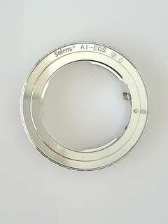 Lens adapter ring for Nikon lens to Canon EOS camera with EF mount