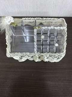 🚚 現貨16 格 壓克力收納盒 色料架 收納架 飾品盒 保養品架 收納盒 空盒 文具盒