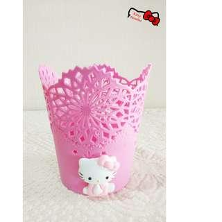 Hello Kitty Pinky Collection Flower Storage Bin #CNY888