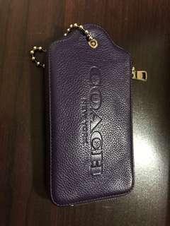 🚚 Coach手拿包紫8.5成新(原價買快3000)