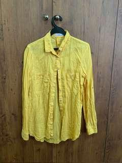MANGO yellow blouse