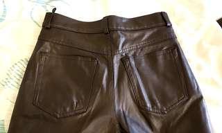 瑪莎內有裡布皮褲貼身牛仔型