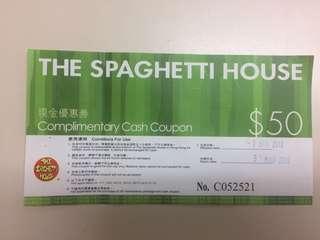 Spaghetti House $100現金券