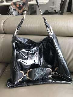 Authentic Versace patent leather bag