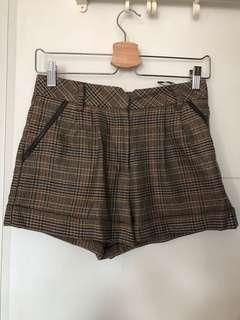 Topshop check shorts UK8
