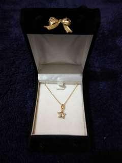 🚚 金色星星項鏈含禮盒