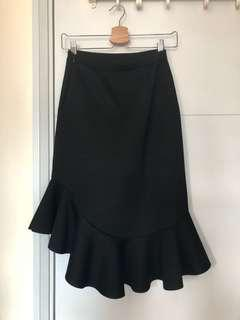 太空棉 斯文裙 black skirt free size
