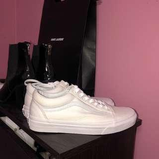 Vans white canvas sneakers