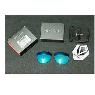 Lensa Oakley Frogskins Polarized Elite Ice Blue Shield merk Revant Elite