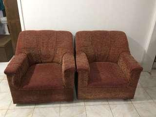 PRELOVED: SOFA CHAIRS 2 SETS
