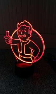 Vault Boy LED Bed Light Bed Lamp