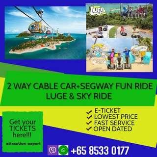 CABLE CAR + ISLAND ADMISSION + LUGE & SKYRIDE + SEGWAY FUN RIDE