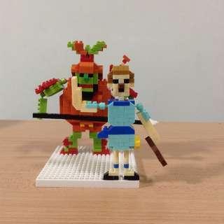 David and Goliath Nano Block Model