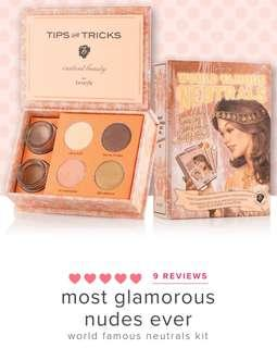BENEFIT Cosmetics Eyeshadow Kit - Most Glamorous Nude Ever