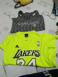 Sports shirt ung black d p ngamit n wash lang.. Ung green used few times lang
